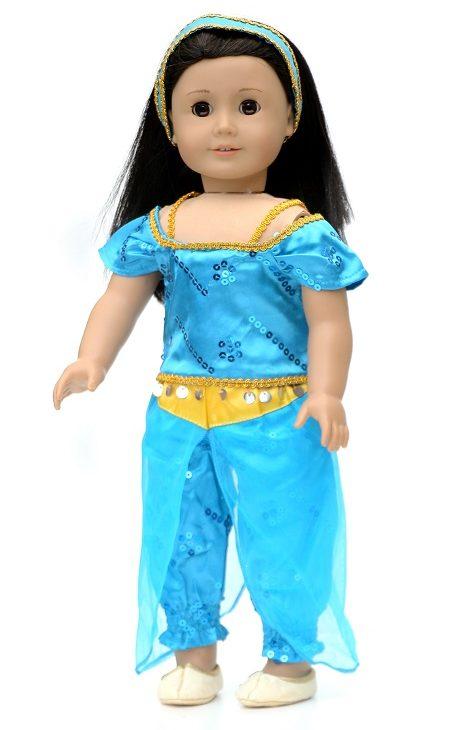 18 Doll 4 Piece Princess Jasmine Outfit