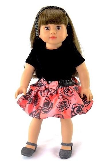 18 Doll Taffeta Skirt Shirt Headband