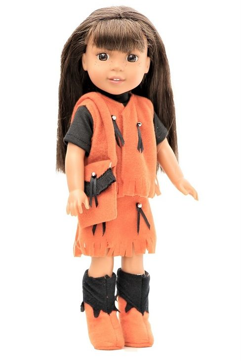 14.5 Wellie Wisher Doll 5 Piece Western Outfit 1