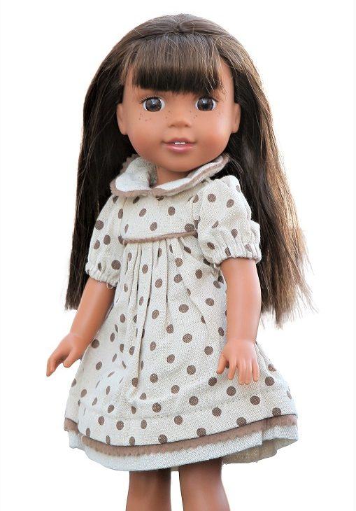 14.5 Wellie Wisher Doll Polka Dot Dress 1
