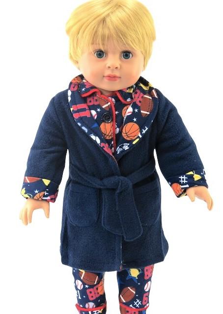 18 Boy Doll Sports Bathrobe