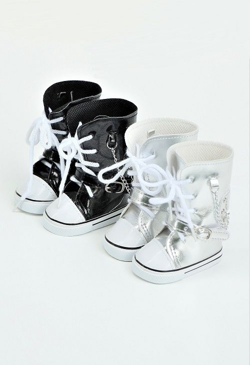 18 Doll Leather High Top Sneakers 1