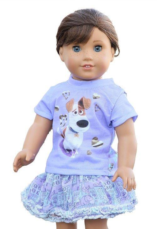 18 Doll Secret Life Of Pets Inspired Skirt Set