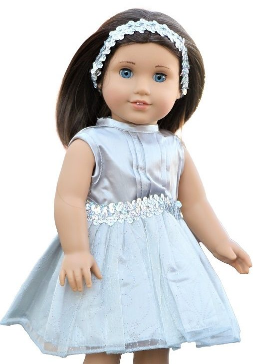 18 Doll Silver Dress Headband