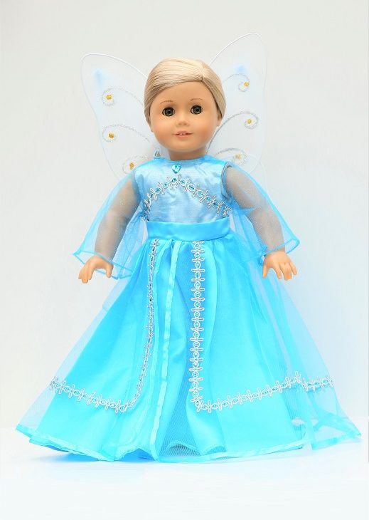 18 Doll Blue Fairy Gown With Wings