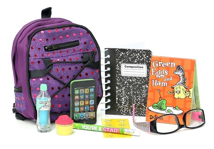 18 Doll Customized Back To School Backpack Set 2