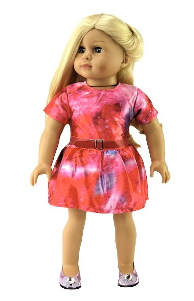 18 Doll Galactic Dress With Belt