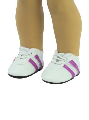 18 Doll Purple Striped Sport Shoes