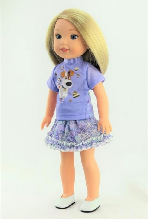 14.5 Wellie Wisher Doll Lavender Pets Inspired Outfit