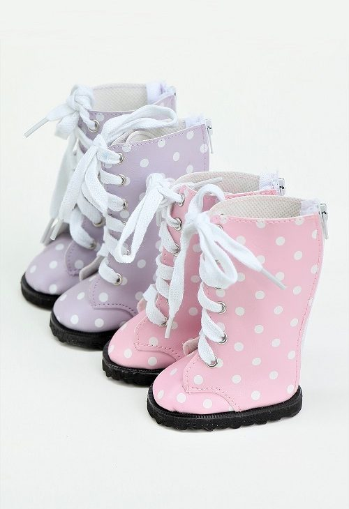 18Doll Tall Polka Dotted Boots