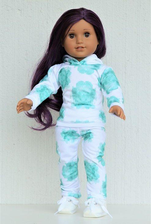 18 Doll Mint Tie Dye Jogger Outfit