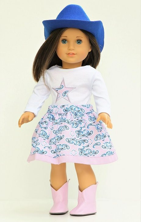 18 Doll Paisley 5 Piece Cowgirl Outfit