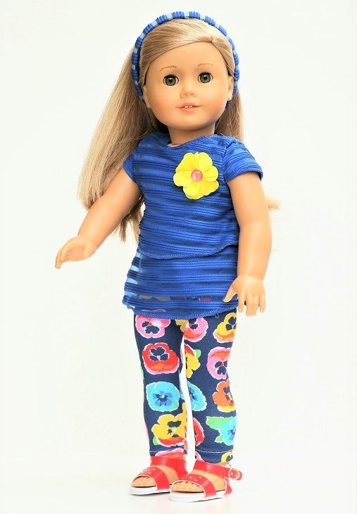 18 Doll Pansy Leggings Lacy Top Headband
