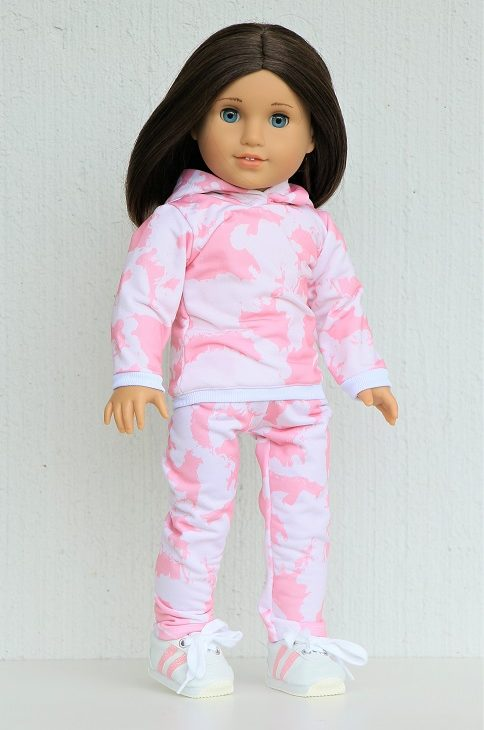 18 Doll Pink Tie Dye Jogger Outfit