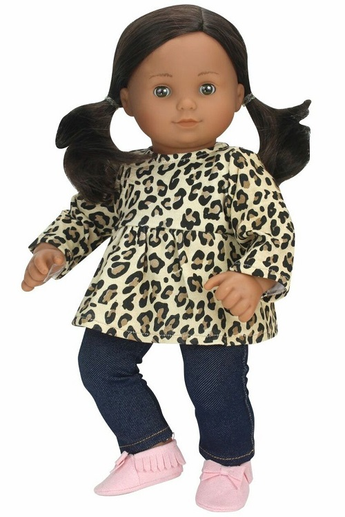 15 Bitty Baby Doll Cheetah Tunic Jeggings