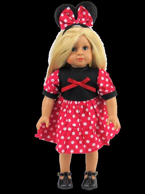 18 Doll Red Minnie Mouse Dress Headband