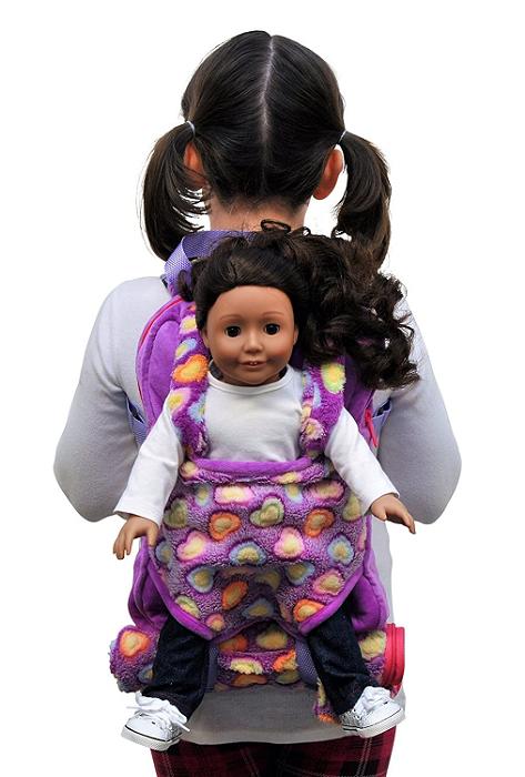 Purple Doll Carrier Backpack Sleeping Bag